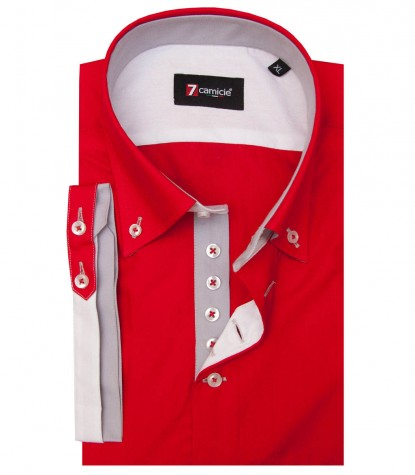 Shirt Marco Polo poplin Red