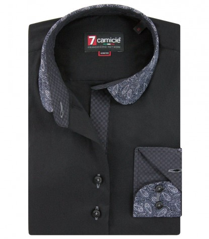 Camicia Margherita Popeline stretch Nero