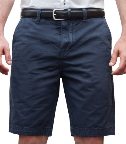 Bermuda shorts cotton blue plain colour
