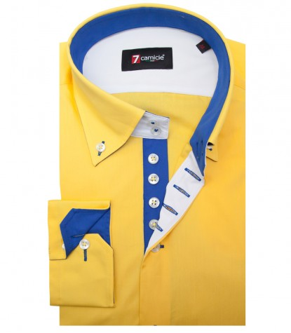 Shirt Roma poplin Yellow