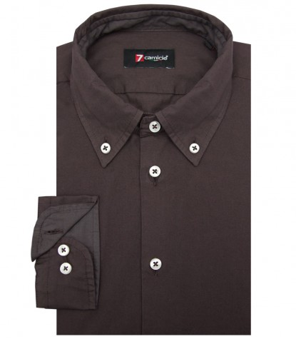 Shirt Leonardo poplin Brown