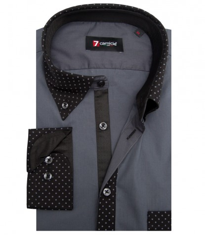 Shirt Leonardo poplin Dark Grey