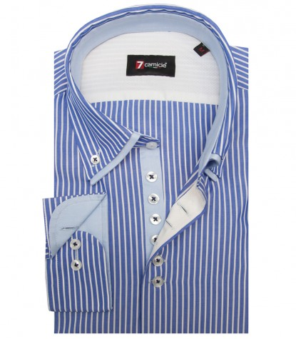 Shirt Donatello Cotton BlueWhite