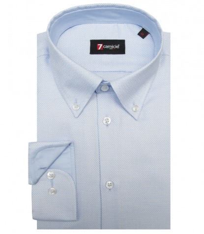 Shirt Leonardo Weaved WhiteLite Blue