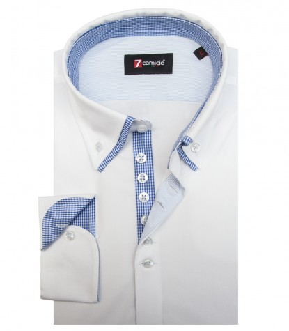 Camicia Donatello Popeline stretch Bianco