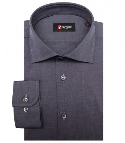 Shirt Firenze Fil a fil Dark Grey