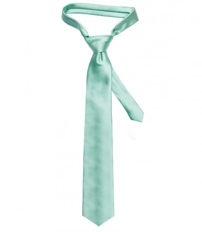Tie Trevi Polyester Water Green