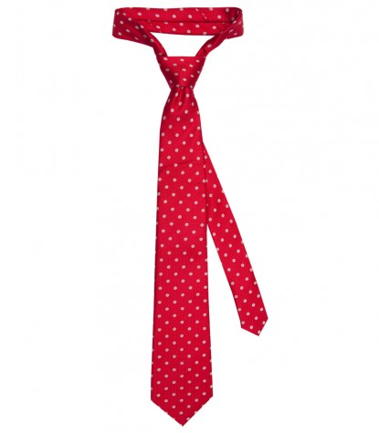 Tie Trevi Silk Red and Light Blue