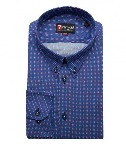 Shirt Leonardo Poplin Light Blue Red