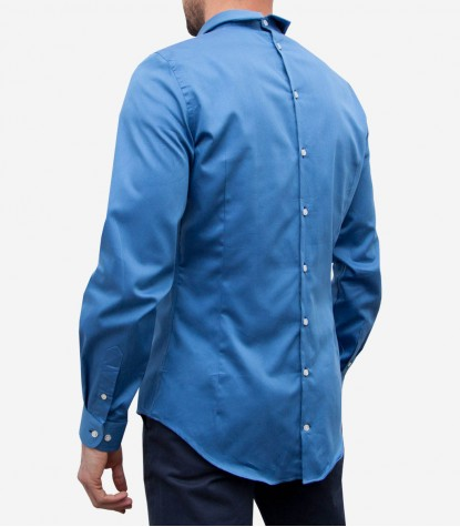 Double buttoning shirt Romeo light blue