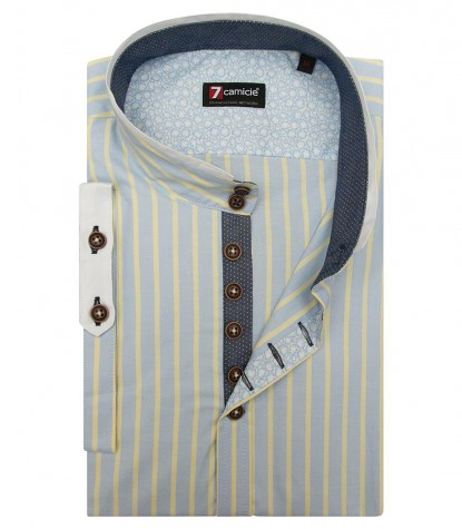 Shirt Caravaggio Oxford Sky and Yellow