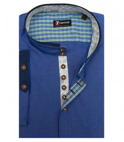 Chemises Caravaggio super oxford avion bleu
