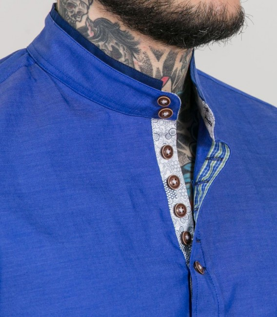 Shirt Caravaggio Super oxford Blue Avion