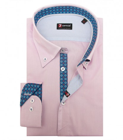 Chemises Leonardo super oxford Rose