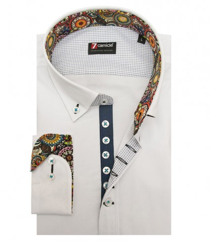 Camicia Donatello Popeline stretch Celeste Cadetto