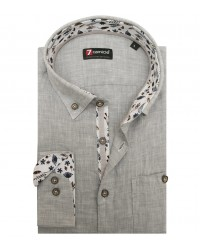 Shirt Leonardo Linen Light Grey