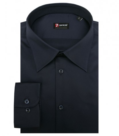 Shirt Romeo Satin Blu