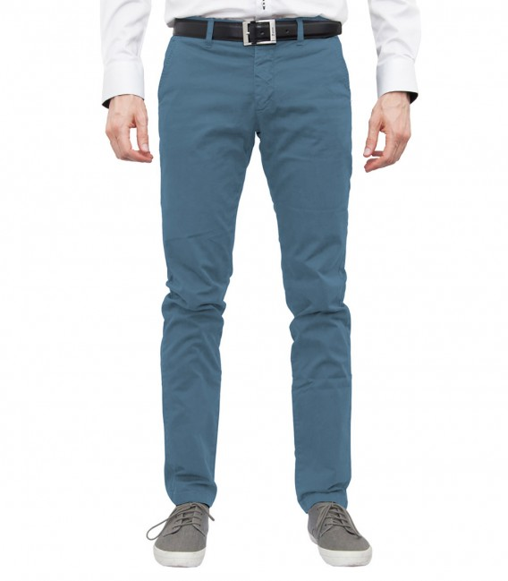 Melange Light Blue Trousers