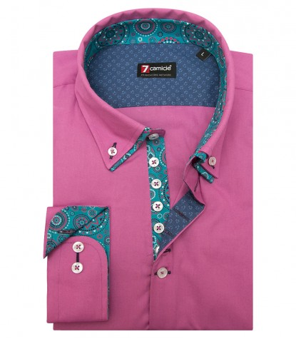 Camicia Donatello Popeline stretch Orchidea
