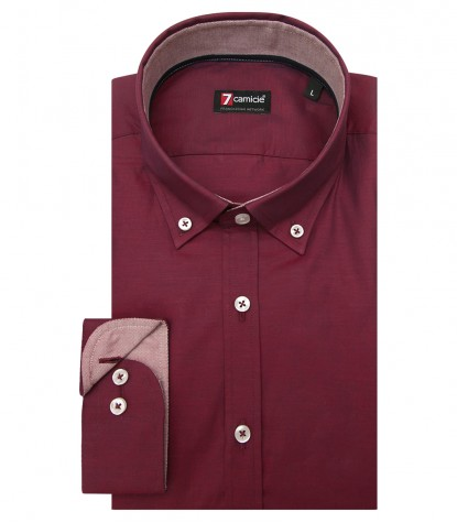 Shirt Leonardo Cotton Bordeaux