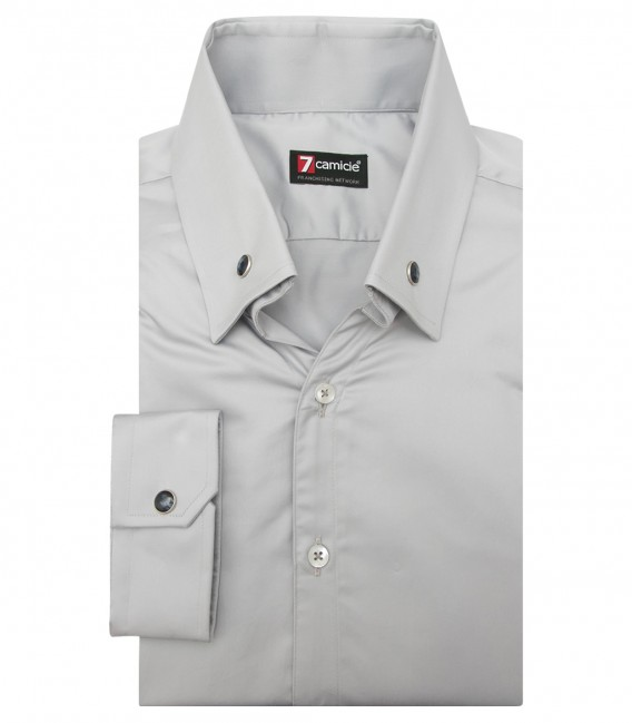 Shirt Leonardo Satin Light Grey