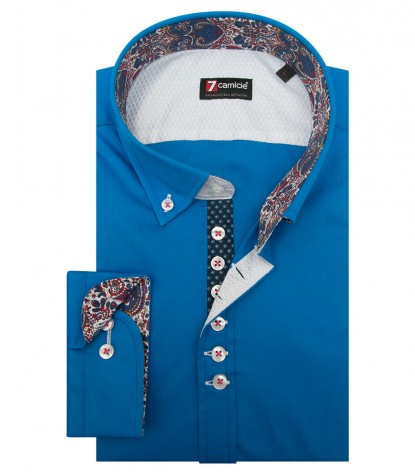 Camicia Donatello Popeline stretch Sky Blue