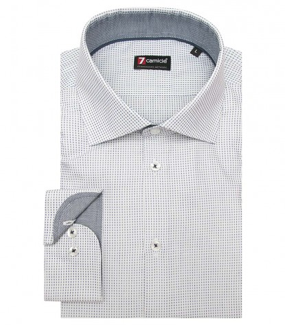 Shirt Firenze jacquard White and Blue