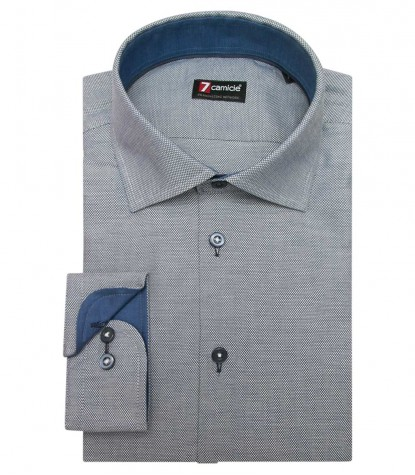Shirt Firenze Honeycomb fabric BlueWhite