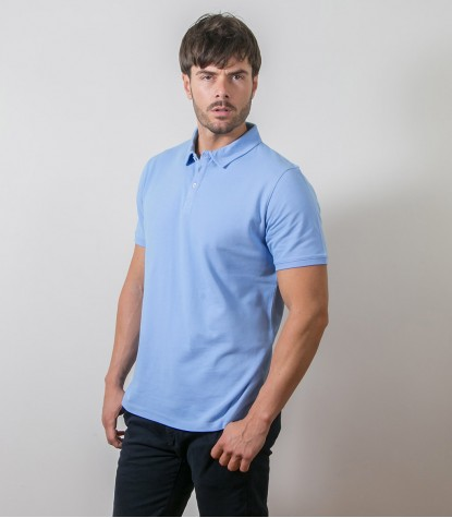 Medium Blue Polo Shirts