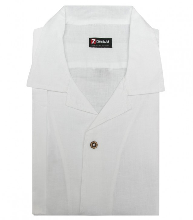 Shirt Hawaii Linen White