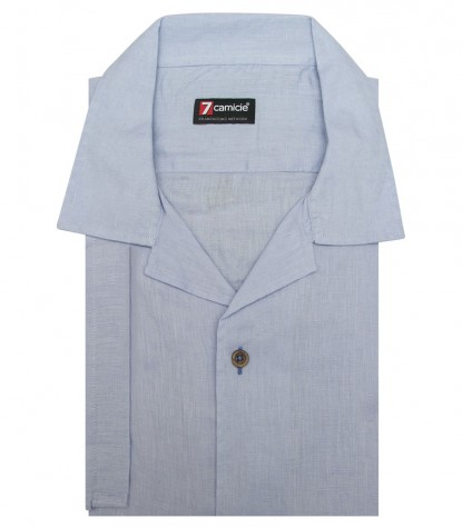Shirt Hawaii Linen Light Blue