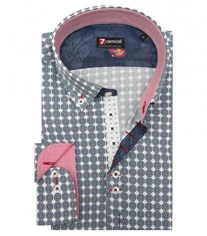 Shirt Donatello Poplin WhiteBlue