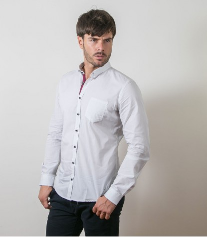 Shirt Romeo Cotton WhiteBlack