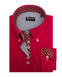 Shirt Silvia stretch poplin Persia Red