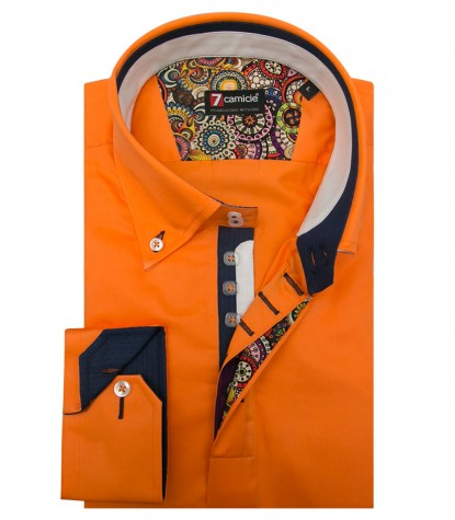 Shirt Roma Satin Light Orange