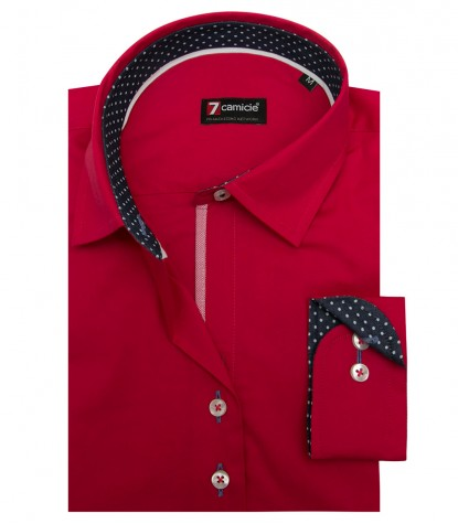 Shirt Linda stretch poplin Persia Red