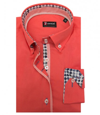Shirt Sofia stretch poplin Coral