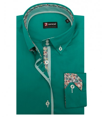 Shirt Sofia stretch poplin Emerald Green