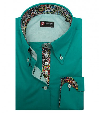 Shirt Silvia stretch poplin Emerald Green