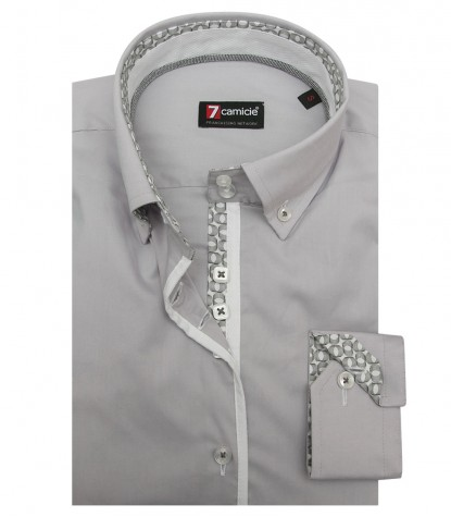 Shirt Sofia stretch poplin Light Grey