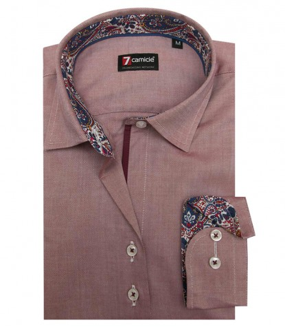 Camicia Linda Super oxford Bordeaux