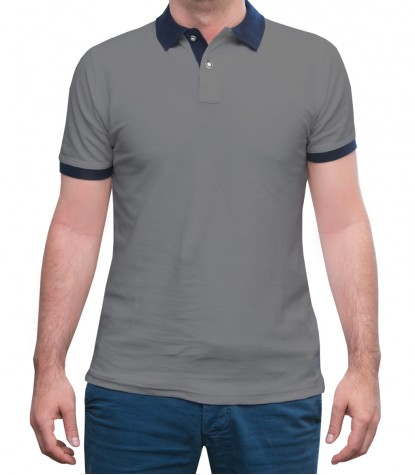 Melange Light Grey Polo Shirts