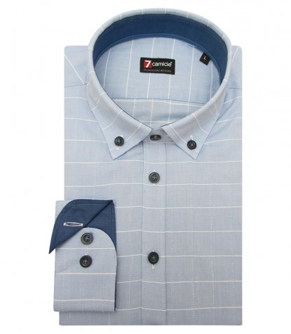 Shirt Men medium square Light BlueWhite