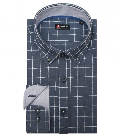 Shirt Men medium square BlueWhite