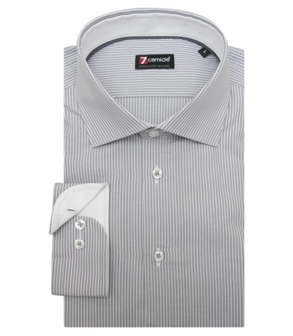 Shirt Firenze Weaved Light GreyWhite