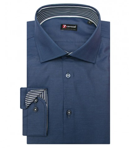 Shirt Firenze Honeycomb fabric Blue Avion Blue