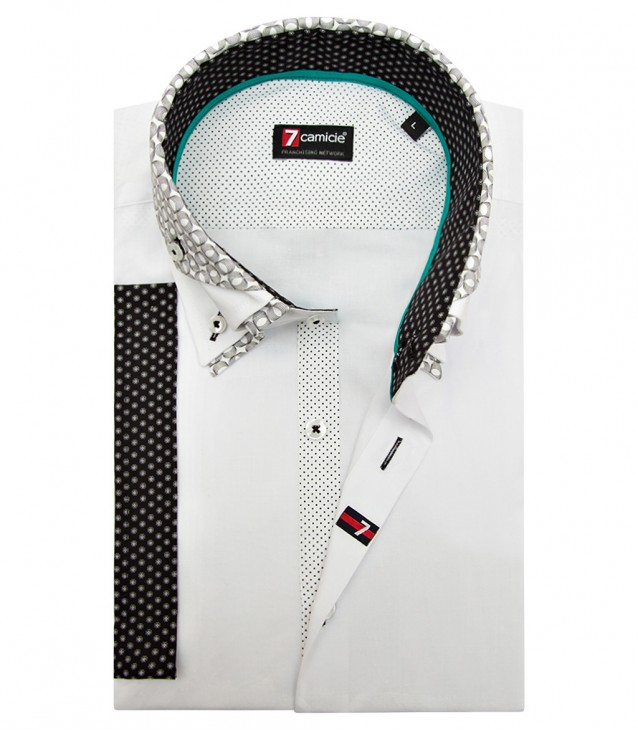 Shirt Vesuvio stretch poplin White