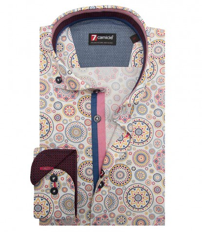 Shirt Leonardo Poplin WhiteRed