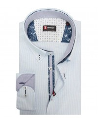 Shirt Leonardo Super oxford WhiteBlue