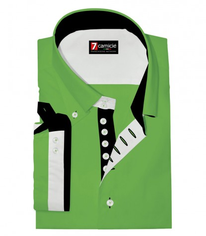 Shirt Marco Polo poplin Green